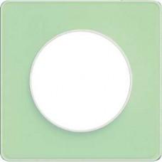 S52P802S Рамка 1 пост зелен лед бел ODACE