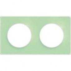 S52P804S Рамка 2 пост зелен лед бел ODACE
