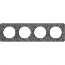 S52P808T Рамка 4 пост черный фосфор ODACE