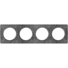 S52P808U Рамка 4 пост морской камень ODACE