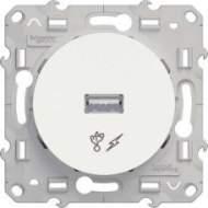 S52R408 USB розетка бел ODACE
