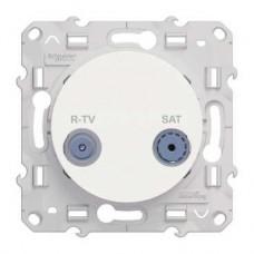 S52R456 R-TV/SAT проход бел ODACE