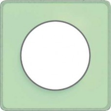 S53P802S Рамка 1 пост зелен лед алюм ODACE