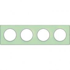 S53P808S Рамка 4 пост зелен лед ал ODACE