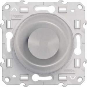S53R518 Светорегулятор поворотный 9-100ВА алюм