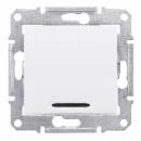 SDN0201121 Выкл. 2-пол.с красной инд.10А, бел.