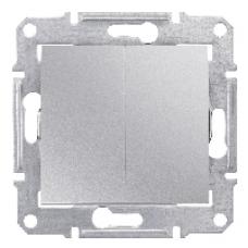 SDN0300460 Выключатель 2-х клав IP44 алюм.  купить в Москве, цена в России: опт, розница | smartipad.ru