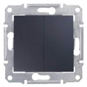 SDN0300470 Выключатель 2-х клав IP44 графит  купить в Москве, цена в России: опт, розница | smartipad.ru