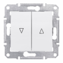 SDN1300121 Выкл. д/жалюзи эл.блок, бел.