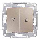 SDN1300168 Выкл. д/жалюзи эл.блок, титан