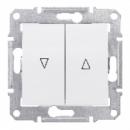 SDN1300321 Выкл. д/жалюзи мех.блок, бел.