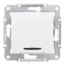 SDN1400121 Выкл. с синей подсв., бел.
