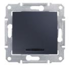 SDN1400170 Выкл. 1кл 10А с подсв., графит