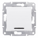 SDN1600121 Кноп.выкл. с подсв., бел.