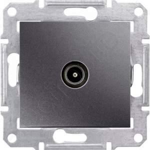 SDN3201270 TV коннектор проходной, графит  купить в Москве, цена в России: опт, розница   smartipad.ru
