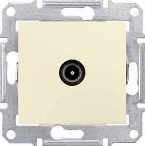 SDN3201847 TV коннектор проходной, беж.  купить в Москве, цена в России: опт, розница   smartipad.ru
