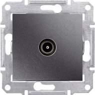 SDN3201870 TV коннектор проходной, графит  купить в Москве, цена в России: опт, розница | smartipad.ru
