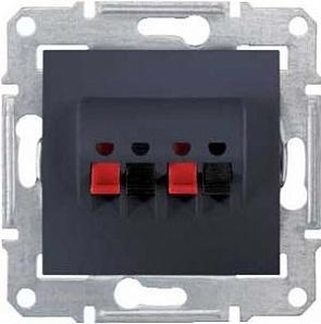 SDN5400170 Аудио розетка х2, графит  купить в Москве, цена в России: опт, розница | smartipad.ru