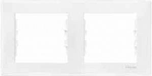 SDN5800321 Рамка х2 горизонт., бел.  купить в Москве, цена в России: опт, розница | smartipad.ru