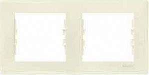 SDN5800347 Рамка х2 горизонт., беж.  купить в Москве, цена в России: опт, розница | smartipad.ru
