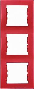 SDN5801341 Рамка 3-пост, вертик., красная  купить в Москве, цена в России: опт, розница | smartipad.ru