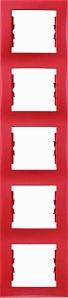 SDN5801541 Рамка 5-пост, вертик., красная  купить в Москве, цена в России: опт, розница | smartipad.ru
