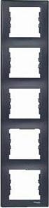 SDN5801570 Рамка х5 вертик., графит  купить в Москве, цена в России: опт, розница | smartipad.ru