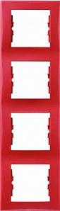 SDN5802041 Рамка 4-пост, вертик., красная  купить в Москве, цена в России: опт, розница | smartipad.ru