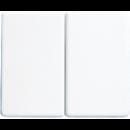 SL1565.07WW SL 500Бел Накладка светорегулятора 2-х канального нажимного