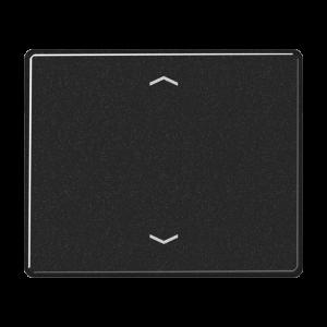 SL5232FSW SL 500 ЧерныйНакладка нажимного электронного жалюзийного выключателя с ДУ (радио)