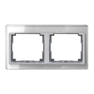 SL5820SI SL 500 Серебро Рамка 2-я горизонтальная