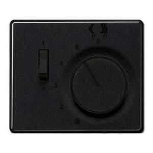 SLTR231PLSW SL 500 ЧерныйНакладка термостатакомнатного с выключателем(мех TR231U,TR241U)