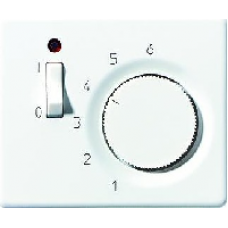 SLTR231PLWW SL 500 БелНакладка термостатакомнатного с выключателем(мех TR231U,TR241U)