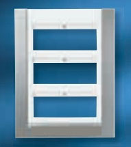 T1272 NIE Панель лицевая для бокса поста централизации открытого/скрытого монтажа на 12 мод (2 ряда)