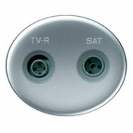 T5550.1 PL NIE Tacto Серебро Розетка TV-FM-SAT