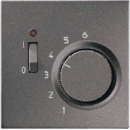 TRAL231AN LS 990Антрацит Термостат комнатный, 10(4)А