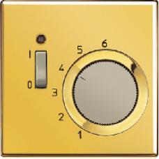 TRGO231 LS 990 Блеск золота Термостат комнатный, 10(4)А, 220В, НЗ-контакт