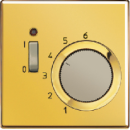TRLS241GGO LS 990 Золото Термостат комнатный, 10(4)А, 24В, НЗ-контакт