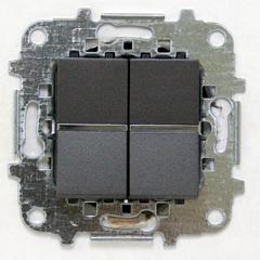 Z2101 AN NIE Zenit Антрацит Выключатель 2-клавишный 2 мод