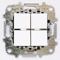 Z2101 BL NIE Zenit Бел Выключатель 2-клавишный 2 мод