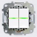 Z2101 BLI NIE Zenit Бел Выключатель 2-клавишный c подсветкой 2 мод