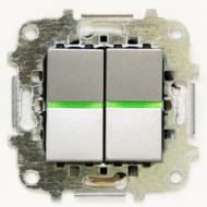 Z2101 PL NIE Zenit Серебро Выключатель 2-клавишный 2 мод