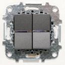 Z2102 AN NIE Zenit Антрацит Переключатель 2-клавишный 2 мод