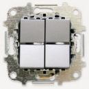 Z2102 PL NIE Zenit Серебро Переключатель 2-клавишный 2 мод