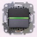 Z2201 ANI NIE Zenit Антрацит Выключатель 1-клавишный с подсветкой 2 мод