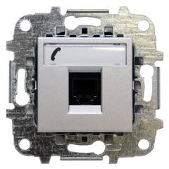 Z2217.6 PL NIE Zenit Серебро Розетка телефонная на 6 контактов, RJ12, 2 мод