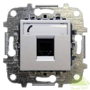 Z2217.6 AN NIE Zenit Антрацит Розетка телефонная на 6 контактов, RJ12, 2 мод