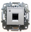 Z2218.1 PL NIE Zenit Серебро Розетка компьютерная, категория 5Е, RJ45, 2 мод