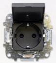 Z2288.1 AN NIE Zenit Антрацит Розетка с/з с защитными шторками с крышкой 2 мод