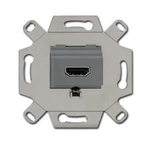 0230-0-0432 BJE Мех Механизм HDMI-розетки/разъёма, HDMI-type A, Full HD, 20 полюсов, цвет серый